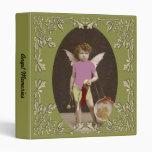 Angel Drum Girl Vinyl Binders