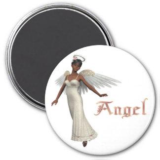 Ángel dulce del KRW - afroamericano Imán Redondo 7 Cm