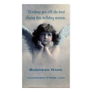 Ángel dulce del navidad del vintage tarjetas de visita
