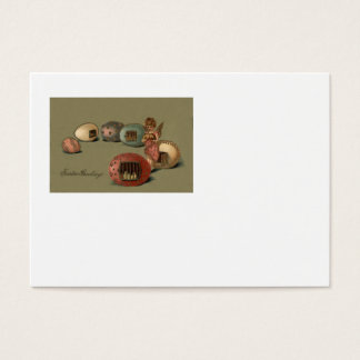 Angel Easter Chick Colored Egg Cage Business Card