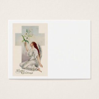 Angel Easter Lily Christian Cross Business Card
