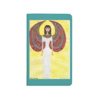 Ángel egipcio antiguo cuaderno grapado