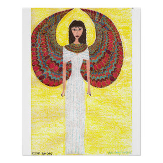 Ángel egipcio antiguo perfect poster