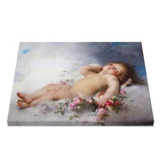 Ángel el dormir impresiones en lienzo estiradas