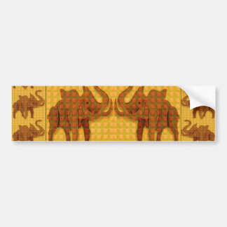 Angel ELEPHANT Handcrafted Wooden TOY Gift Animal Bumper Stickers
