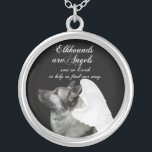 """Angel Elkhound Silver Plated Necklace<br><div class=""""desc"""">This Norwegian Elkhound necklace is a great gift for any Elkhound lover.</div>"""