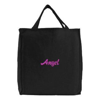 Angel Embroidered Bag -Black