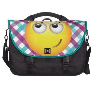 Angel Emoticon Laptop Commuter Bag