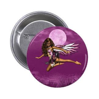 Ángel en botón del claro de luna pins