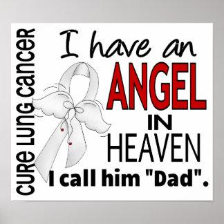 Ángel en cáncer de pulmón del papá del cielo póster