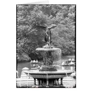 Ángel en Central Park Tarjeta De Felicitación