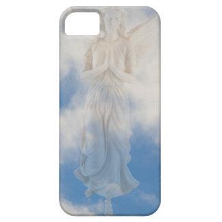 Ángel en cielo nublado del cielo azul por amor iPhone 5 cárcasas