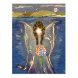 Ángel en el agua tarjeta postal