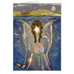 Ángel en el agua tarjeton