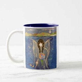 Ángel en el agua tazas de café