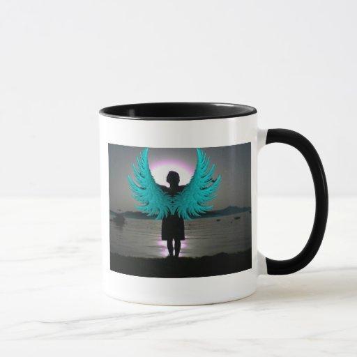 Ángel en el amanecer taza