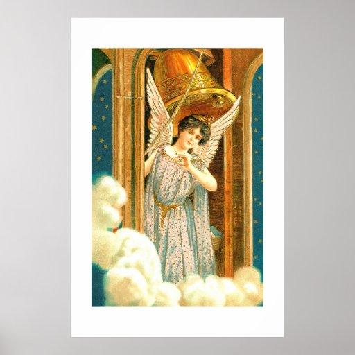 Ángel en el campanario póster