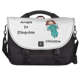 Ángel en el disfraz - regalo para la enfermera bolsas de portatil