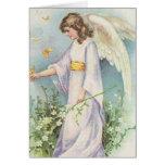 Ángel en el jardín - tarjeta de pascua