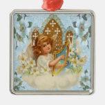 Ángel en el ornamento de la nube ornamentos para reyes magos