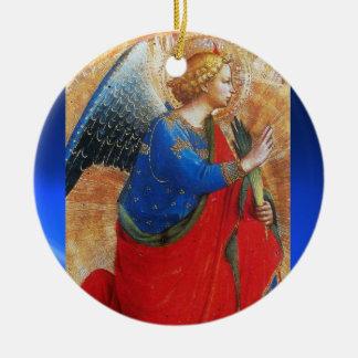 ÁNGEL EN EL ORO ROJO Y AZUL, piedra de gema del za Ornamento De Reyes Magos