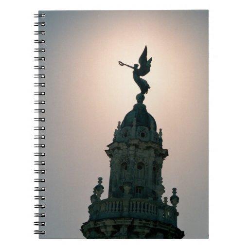 Ángel en la luz libros de apuntes con espiral