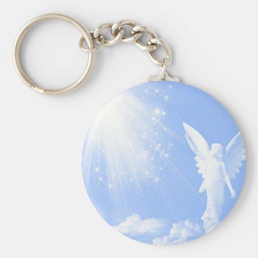 Ángel en las nubes llaveros personalizados