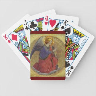 Ángel en oro barajas de cartas