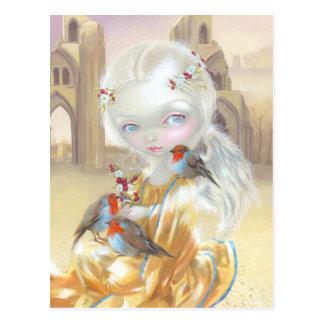 Ángel en postal de la abadía de Glastonbury