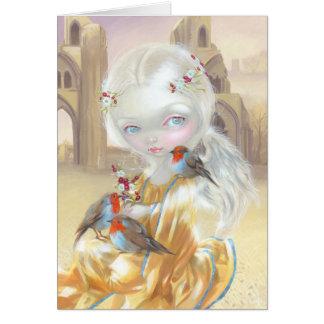 Ángel en tarjeta de felicitación de la abadía de