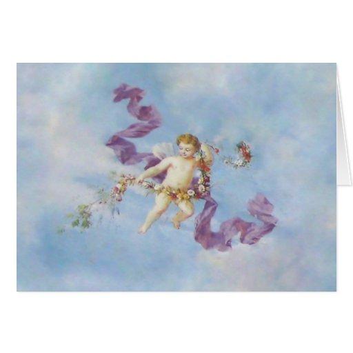 Ángel en tarjetas/invitaciones del ~ del cielo