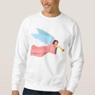 Ángel en vestido rosado con la camiseta de la