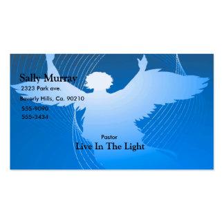 Ángel en vuelo en azul tarjetas de visita