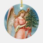 Ángel encantador del navidad ornamentos de reyes