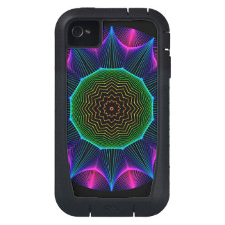 Angel Energy Mandala, Abstract Magenta iPhone4 Case