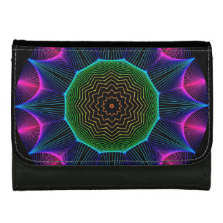 Angel Energy Mandala, Abstract Magenta Wallets For Women