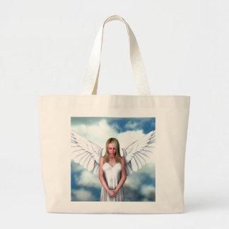Ángel entre las nubes bolsa tela grande