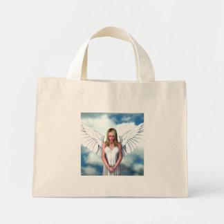 Ángel entre las nubes bolsa tela pequeña