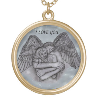 Angel Eros in LOVE Gold Plated Necklace