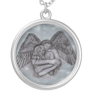 Angel Eros in LOVE Silver Plated Necklace