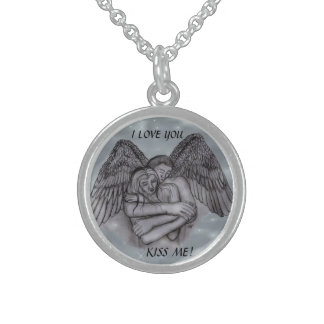 Angel Eros in LOVE Sterling Silver Necklace