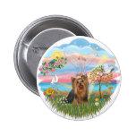 Ángel Estrella-Yorkshire Terrier (#7) Pin Redondo De 2 Pulgadas