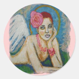 Angel Eyes Classic Round Sticker