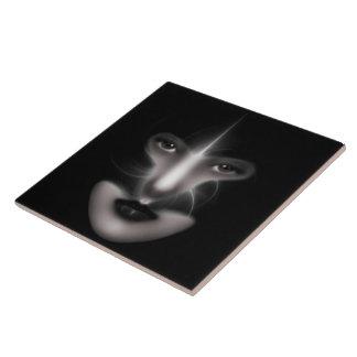 Angel Eyes Fractal Art Tiles Large Square Tile