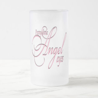 Angel Eyes - Frosted Glass Stein