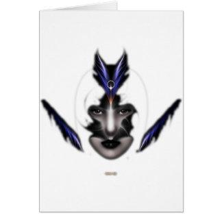 Angel Eyes Wings Of Wind Fractal Art Card