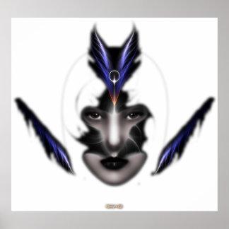 Angel Eyes Wings Of Wind Fractal Art Wall Poster