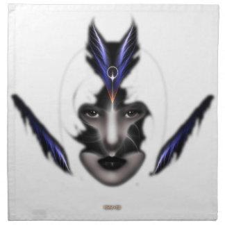 Angel Eyes Wings Of Wind Fractal Table Napkins