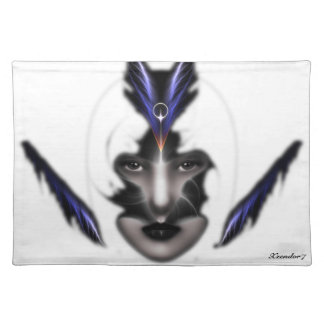 Angel Eyes Wings Of Wind Fractal Table Placemats