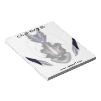 Angel Eyes Wings Of Wind ISO Fractal Art Notepad